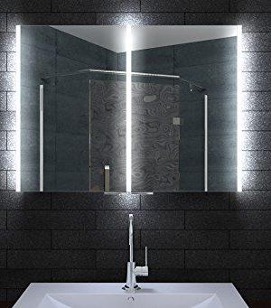 Aluminium Badschrank Badezimmer Spiegelschrank Bad LED Beleuchtung In Den  Größen 80 U2013 160 Cm Breite Erhältlich