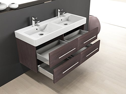 aqua bagno badm bel 120 cm inkl keramik doppelwaschtisch badezimmer m bel inkl waschbecken. Black Bedroom Furniture Sets. Home Design Ideas