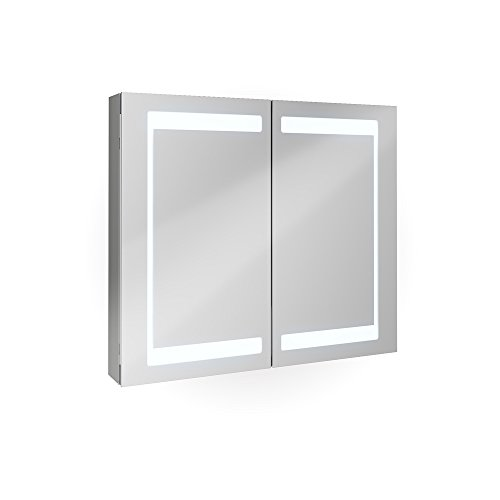 badezimmer spiegelschrank aluminium bad schrank led. Black Bedroom Furniture Sets. Home Design Ideas