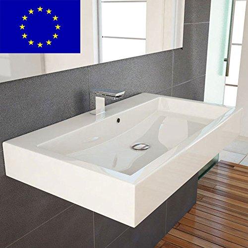 design waschbecken zur wandmontage oder als aufsatzwaschbecken 70x42x10cm material. Black Bedroom Furniture Sets. Home Design Ideas