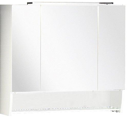 fackelmann spiegelschrank sceno breite 80 cm mit led beleuchtung wei. Black Bedroom Furniture Sets. Home Design Ideas