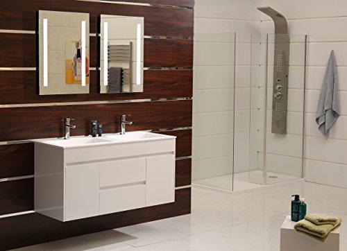led beleuchtung badspiegel badezimmerspiegel gs055n lichtspiegel wandspiegel tageslichtwei ip44. Black Bedroom Furniture Sets. Home Design Ideas