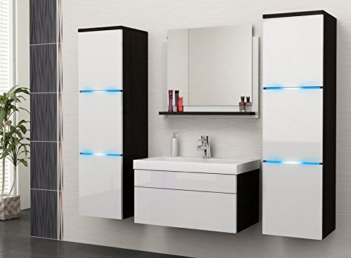 luna badm belset badm bel badset mit waschbecken und led a07. Black Bedroom Furniture Sets. Home Design Ideas