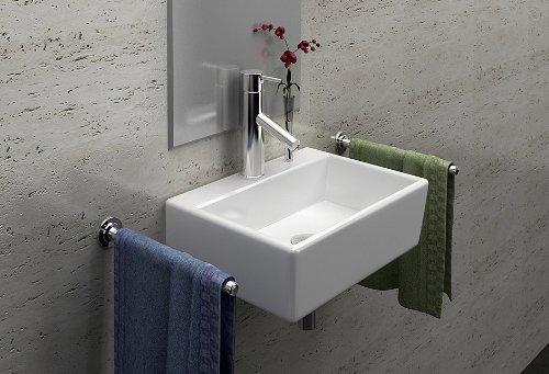 lux aqua g ste wc waschbecken zur wandmontage neu 4549. Black Bedroom Furniture Sets. Home Design Ideas
