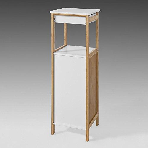 sobuy badkommode badschrank kommode mit schubkasten und t r badezimmer aus mdf und bambus. Black Bedroom Furniture Sets. Home Design Ideas