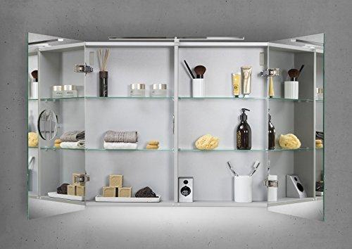 spiegelschrank bad 80 cm led beleuchtung mit farbwechsel doppelseitig verspiegelt. Black Bedroom Furniture Sets. Home Design Ideas
