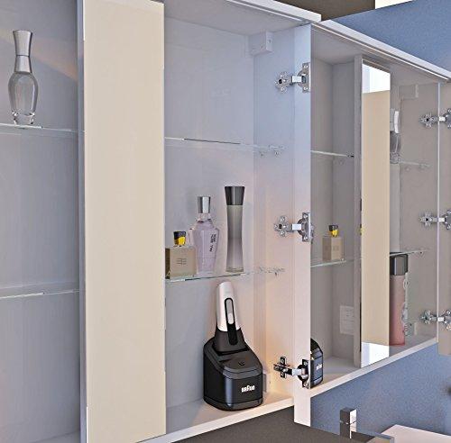 spiegelschrank badm bel mit led beleuchtung licht. Black Bedroom Furniture Sets. Home Design Ideas