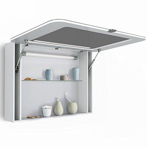 spiegelschrank led badschrank hochglanz badezimmerspiegel. Black Bedroom Furniture Sets. Home Design Ideas