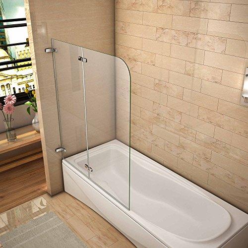 120x140cm duschabtrennung badewannen faltwand 5mm esg glas badewannenfaltwand duschwand h2h 12. Black Bedroom Furniture Sets. Home Design Ideas