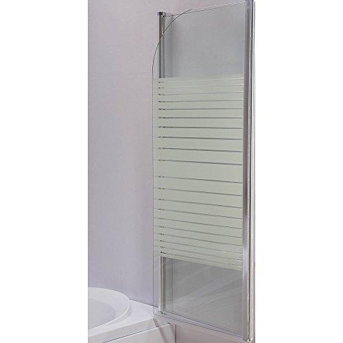 141cm glas faltwand badewannen duschabtrennung badewannenfaltwand duschwand neu. Black Bedroom Furniture Sets. Home Design Ideas