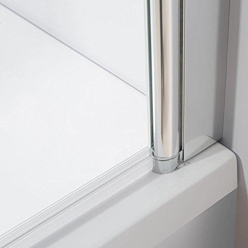141cm glas faltwand badewannen duschabtrennung. Black Bedroom Furniture Sets. Home Design Ideas