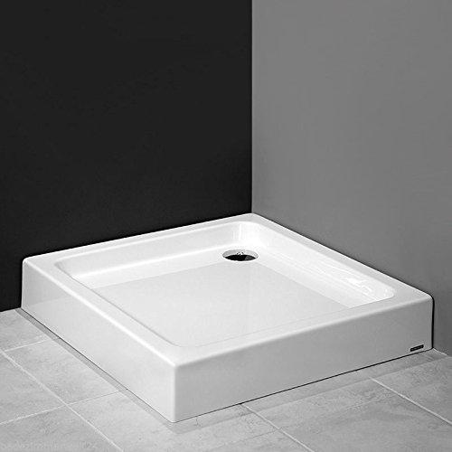 aquabad duschwanne duschtasse mit styroportr ger quadratisch 90x90x17 cm integrierte. Black Bedroom Furniture Sets. Home Design Ideas