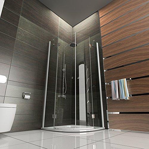 design rund echtglas dusche duschkabine duschabtrennung wannenma 80x80x195 mit antikalk easy. Black Bedroom Furniture Sets. Home Design Ideas
