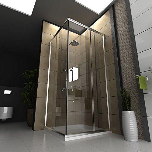dusche echtglas duschkabine duschabtrennung 80 x 80 x 190 cm modell fugo eckeinstieg. Black Bedroom Furniture Sets. Home Design Ideas