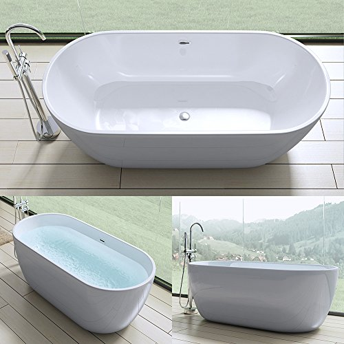elegante design badewanne vicenza518 freistehend in wei. Black Bedroom Furniture Sets. Home Design Ideas