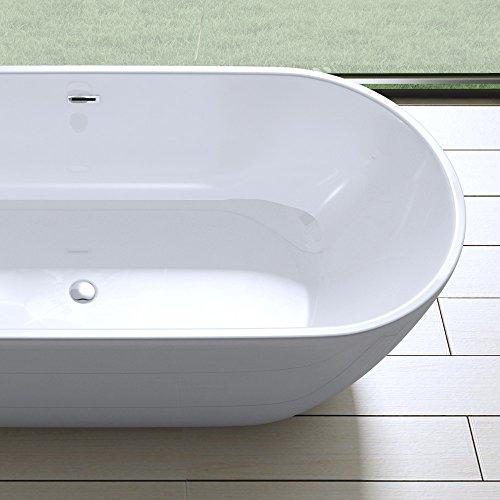 Elegante Design Badewanne Vicenza518 Freistehend In Wei