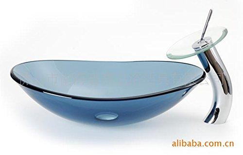geh rtetes glas badewanne waschbecken und wasserhahn. Black Bedroom Furniture Sets. Home Design Ideas