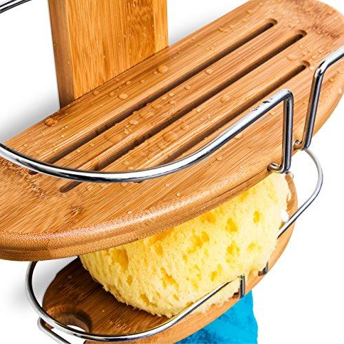 relaxdays duschregal aus bambus zum einh ngen hxbxt ca. Black Bedroom Furniture Sets. Home Design Ideas