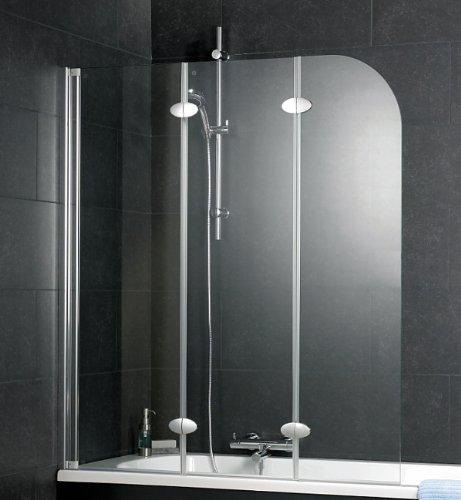 schulte badewannenaufsatz 3 teilig d3354 echtglas klar profilfarbe alunatur. Black Bedroom Furniture Sets. Home Design Ideas