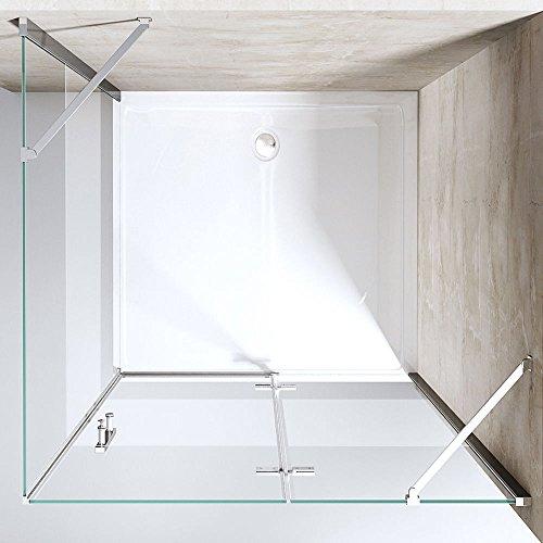 tbh 90x90x195 cm design duschkabine duschabtrennung ravenna28ms esg sicherheitsglas klarglas. Black Bedroom Furniture Sets. Home Design Ideas