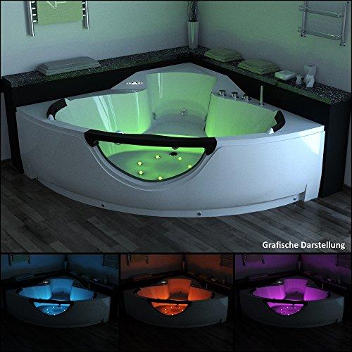 tronitechnik luxus whirlpool badewanne wanne jacuzzi eckwhirlpool spa 2 personen eckwanne. Black Bedroom Furniture Sets. Home Design Ideas
