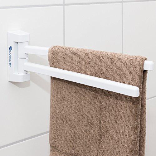 handtuchhalter mit parallel beweglichen 2 armen bad badezimmer handtuch halter kunststoff. Black Bedroom Furniture Sets. Home Design Ideas