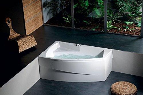 raumspar badewanne eva links 160 x 100 cm komplettset mit acrylsch rze wei zum verkleiden. Black Bedroom Furniture Sets. Home Design Ideas