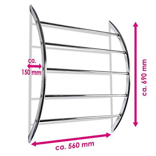 bremermann handtuchhalter zur wandmontage mit 5 stangen aus metall verchromt. Black Bedroom Furniture Sets. Home Design Ideas