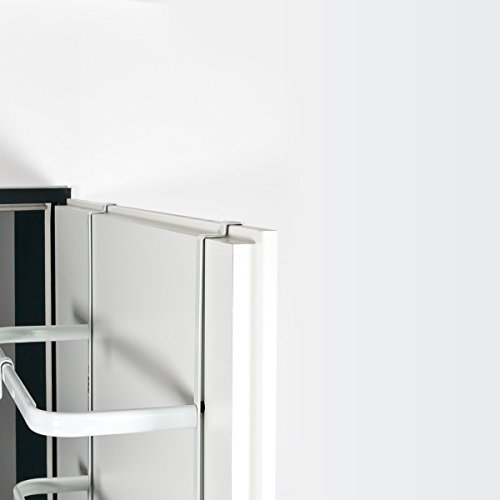 bremermann t r h ngeregal t r handtuchhalter mit 4 praktischen haken wei. Black Bedroom Furniture Sets. Home Design Ideas