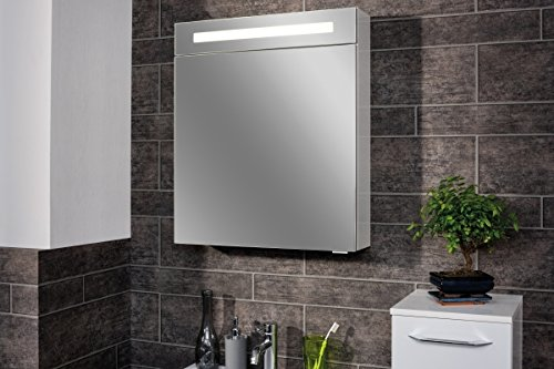 fackelmann led spiegelschrank 60 cm wei 82963. Black Bedroom Furniture Sets. Home Design Ideas