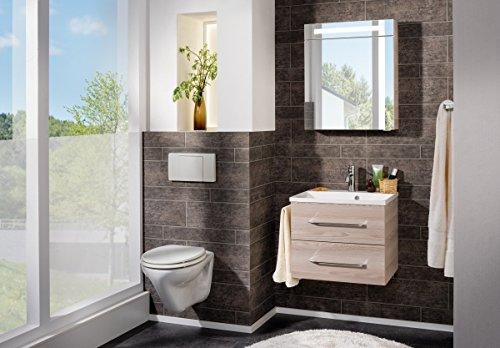 fackelmann led spiegelschrank 60 cm braun alaska esche 82966. Black Bedroom Furniture Sets. Home Design Ideas