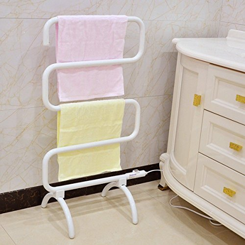 costway handtuchheizk rper badheizk rper handtuchw rmer elektrischer handtuchhalter. Black Bedroom Furniture Sets. Home Design Ideas