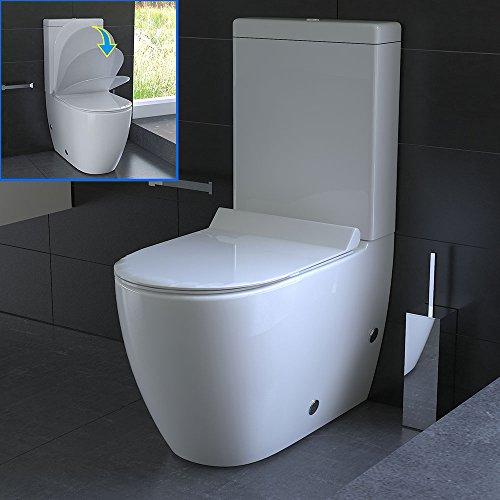 Wc Mit Spülkasten : design stand wc aus keramik mit sp lkasten mit geberit ~ A.2002-acura-tl-radio.info Haus und Dekorationen