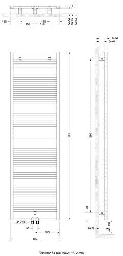 schulte badheizk rper seitenanschluss unten atlas 70x50 cm design heizk rper bad wei 1 st ck. Black Bedroom Furniture Sets. Home Design Ideas