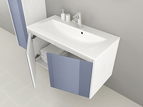 sieper badm bel badm belset kabru unterschrank 90cm breit blau glasfront badm bel. Black Bedroom Furniture Sets. Home Design Ideas