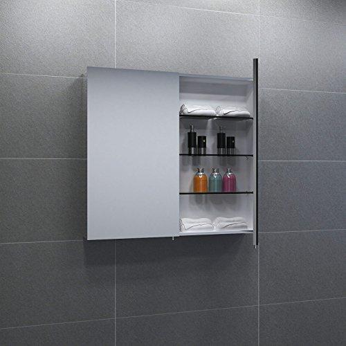 2 t riger spiegelschrank superflach breite 60 cm wei. Black Bedroom Furniture Sets. Home Design Ideas