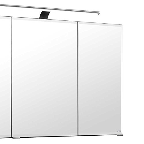 3d spiegelschrank in anthrazit 100 cm breit pharao24. Black Bedroom Furniture Sets. Home Design Ideas