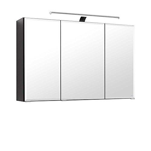 3d spiegelschrank in anthrazit 100 cm breit pharao24 - Spiegelschrank 100 cm breit ...