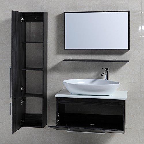 4 tlg badm bel set badezimmerm bel komplettset 80 cm. Black Bedroom Furniture Sets. Home Design Ideas