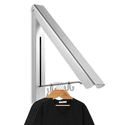 aodoor klappbar wand kleiderst nder aluminium kleiderhaken garderobenhaken geeignet f r. Black Bedroom Furniture Sets. Home Design Ideas