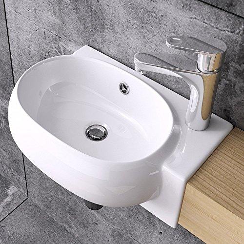 Waschbecken aus Keramik , Waschschale weiß