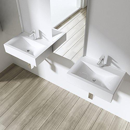 aufsatzwaschbecken h ngewaschbecken br ssel118c bth 45. Black Bedroom Furniture Sets. Home Design Ideas