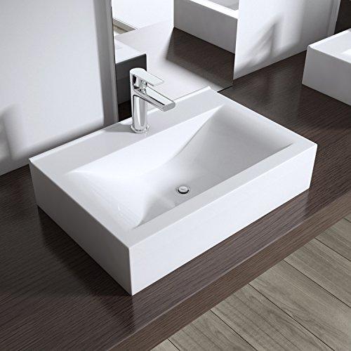 Aufsatzwaschbecken h ngewaschbecken br ssel118c bth 45 for Eckiges waschbecken