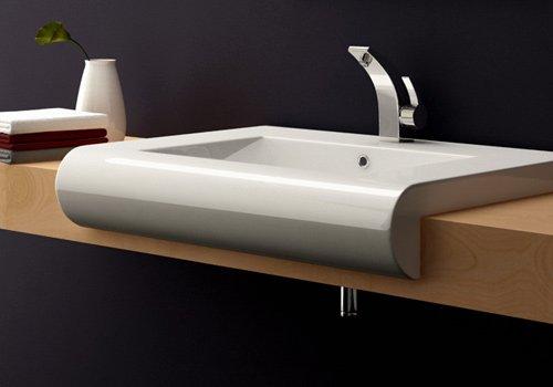 BTH: 68,5x53x13,5 cm Design Aufsatzwaschbecken / Einbauwaschbecken ...