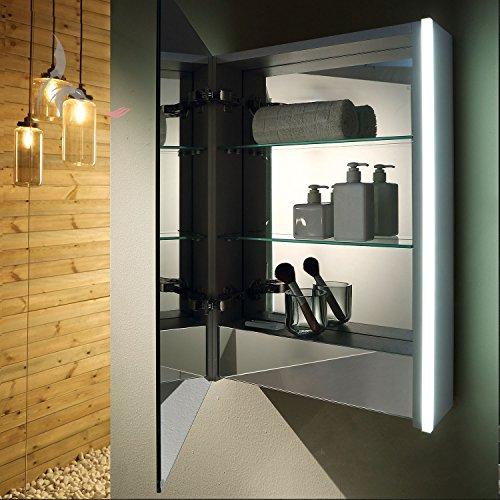 bad spiegelschrank led beleuchtet 1 soft close t r schrank innen komplett verspiegelt mit. Black Bedroom Furniture Sets. Home Design Ideas