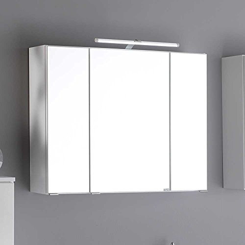 bad spiegelschrank in wei 3d effekt pharao24. Black Bedroom Furniture Sets. Home Design Ideas
