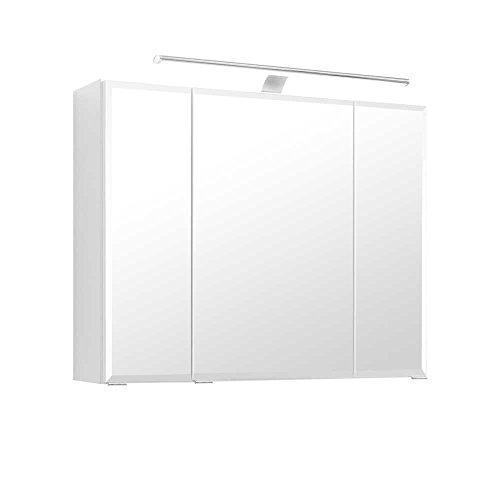 Häufig Bad Spiegelschrank in Weiß 80 cm breit Pharao24 » Badezimmer1.de IV89