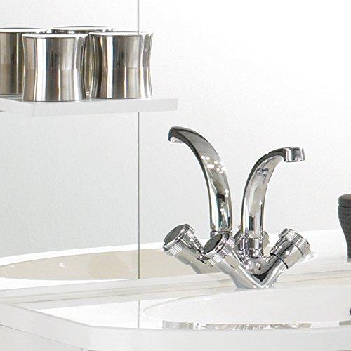 Badezimmer Badblock NENA Hochglanz Weiß » Badezimmer1.de
