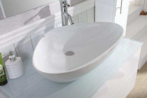 Badezimmer Komplett-Set Badmöbel inkl. Waschbecken, Armatur ...
