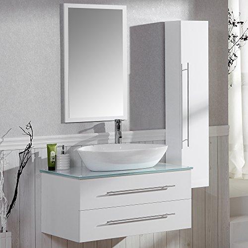 Badezimmer Komplett Set Badmobel Inkl Waschbecken Armatur